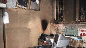 Diyarbakır'da bir okul daha ateşe verildi