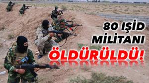 Kobani'de 80 IŞİD militanı öldürüldü.
