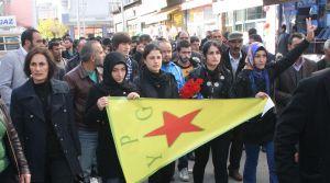Kobani'de vurulan YPG'li için tören düzenlendi