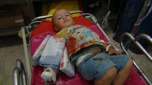Kolunu makineye kaptıran çocuk askeri helikopterle hastaneye götürüldü