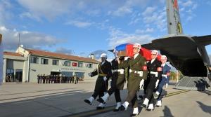 TSK: Rus pilotun cenazesi askeri ve dini törenden sonra Moskova'ya gönderildi