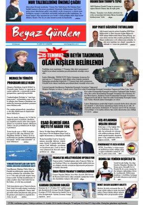 Beyaz Gündem | Haber - Haberler - 01.02.2017 Manşeti