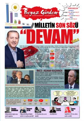 Beyaz Gündem | Haber - Haberler - 25.06.2018 Manşeti