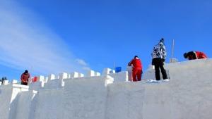 Kardan Erzurum sokağı yaptılarılıyor