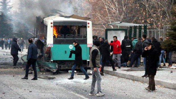 Kayseri'de halk otobüsünde patlama