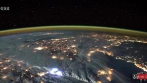 Türkiye üzerinden uçan astronotun çektiği görüntüler kaydedildi